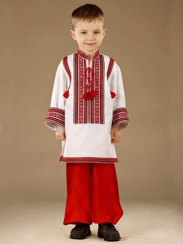 Вишитий костюм для хлопчика КХ 8-9