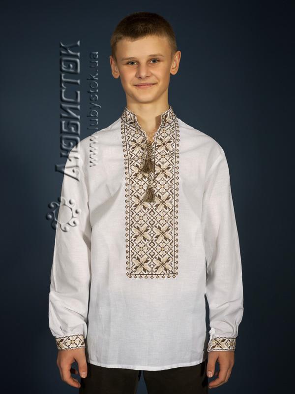 Вишита сорочка хрестиком ЧСВ 12-3