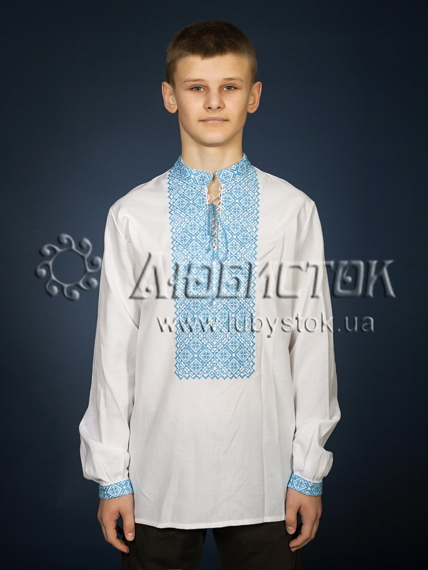 Вишита сорочка хрестиком ЧСВ 18-6