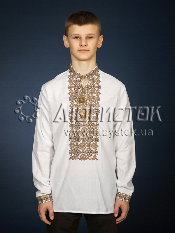 Вишита сорочка хрестиком ЧСВ 19-5