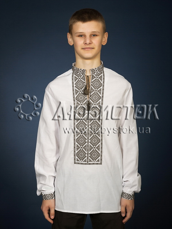Вишита сорочка хрестиком ЧСВ 21-5