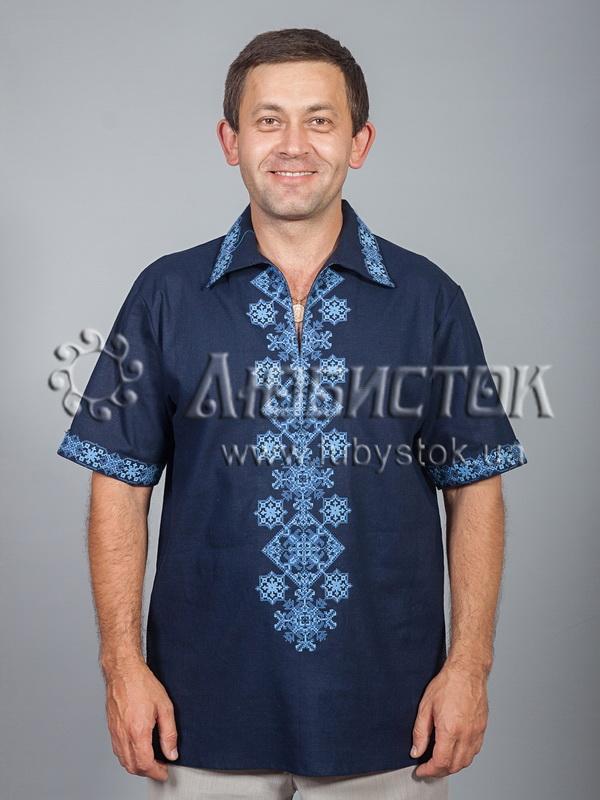 Вишита сорочка хрестиком ЧСВ 37-5