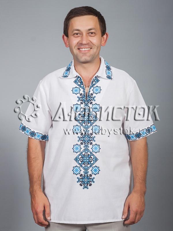 Вишита сорочка хрестиком ЧСВ 37-7
