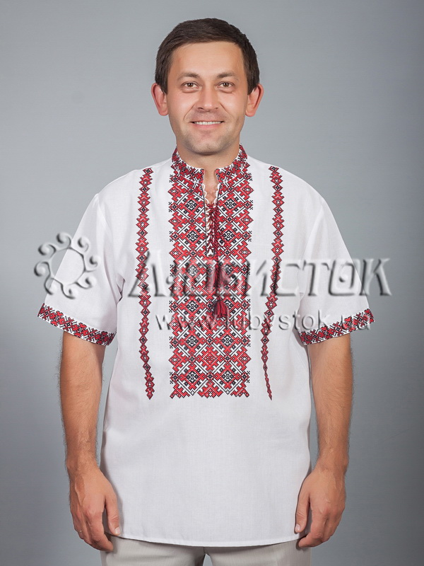 Вишита сорочка хрестиком ЧСВ 39-1