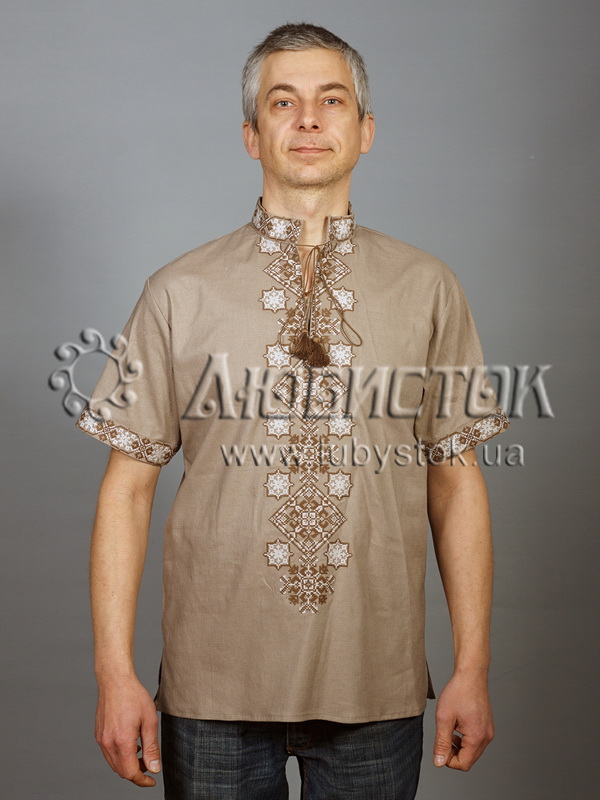 Вишита сорочка хрестиком ЧСВ 49-4
