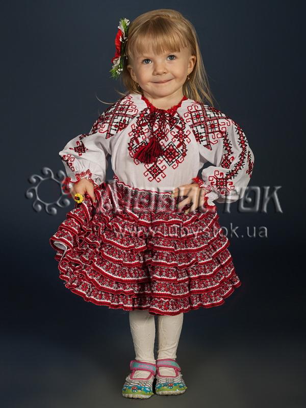 Вишитий костюм для дівчинки  ДКВ 1-1