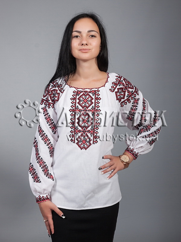 Вишиванка хрестиком жіноча ЖБВ 9-1