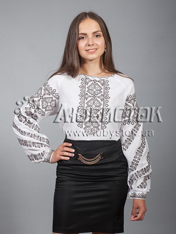 Вишиванка хрестиком жіноча ЖБВ 9-5