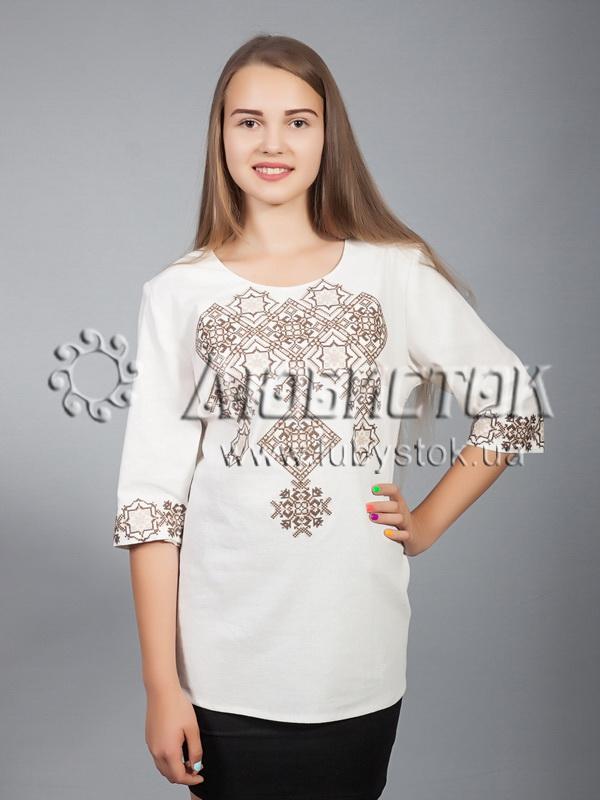 Вишиванка хрестиком жіноча ЖБВ 10-5