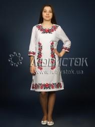 Вишита сукня хрестиком ЖПВ 4-1