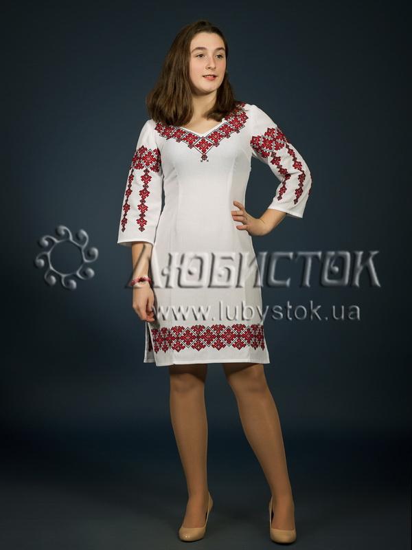 Вишита сукня хрестиком ЖПВ 5-1