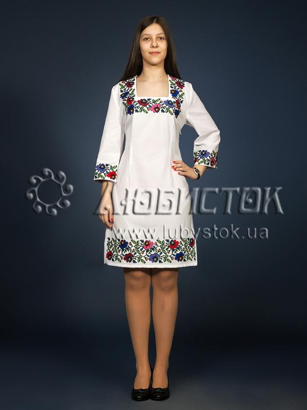 Вишита сукня хрестиком ЖПВ 6-1