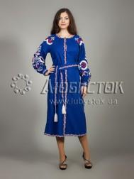 Вишита сукня хрестиком ЖПВ 10-1