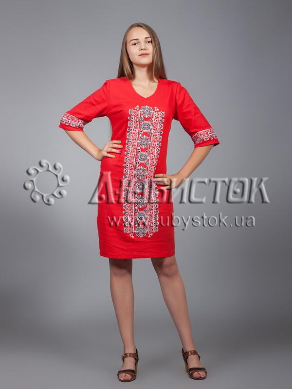 Вишита сукня хрестиком ЖПВ 15-2