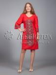 Вишита сукня хрестиком ЖПВ 15-3