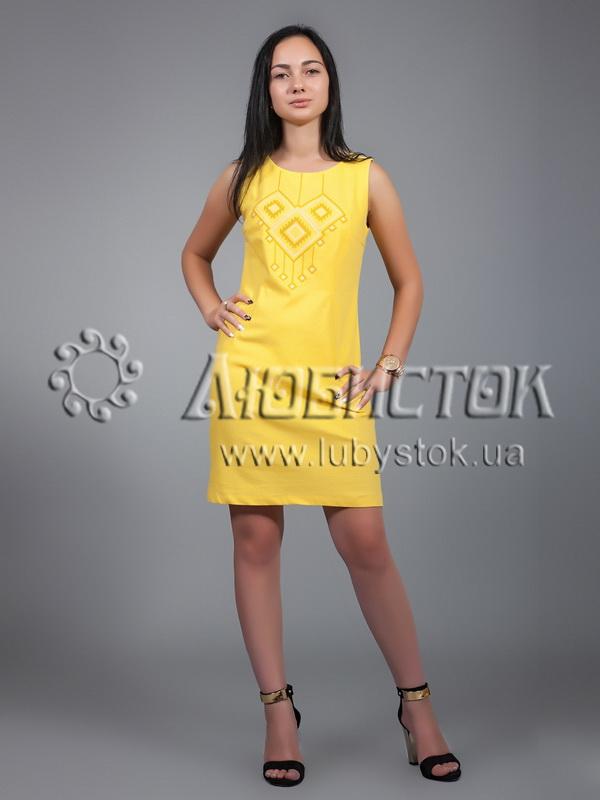 Вишита сукня хрестиком ЖПВ 17-2