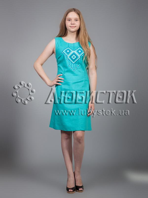 Вишита сукня хрестиком ЖПВ 17-6
