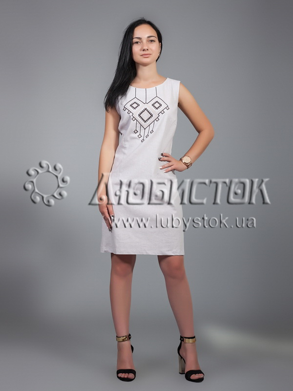 Вишита сукня хрестиком ЖПВ 17-7