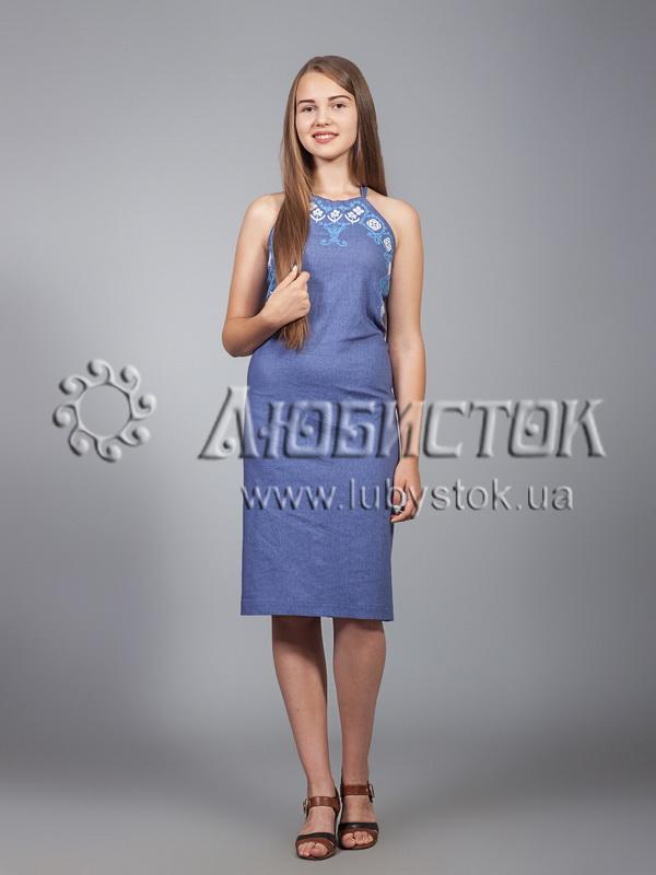 Вишита сукня хрестиком ЖПВ 18-1