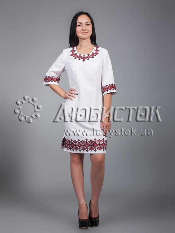 Вишита сукня хрестиком ЖПВ 22-1
