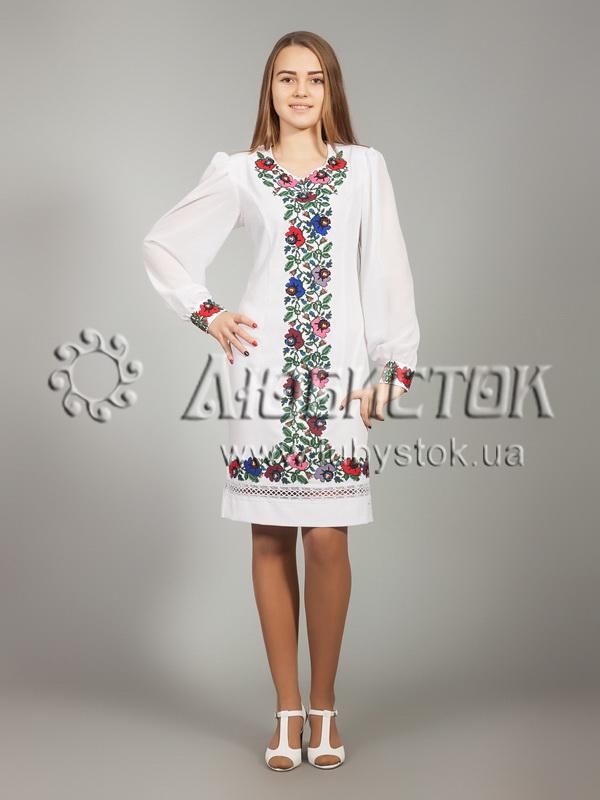Вишита сукня хрестиком ЖПВ 25-1
