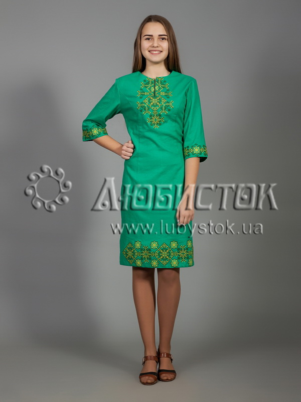 Вишита сукня хрестиком ЖПВ 26-3