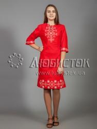 Вишита сукня хрестиком ЖПВ 26-1