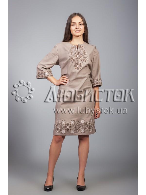 Вишита сукня хрестиком ЖПВ 26-7