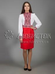 Вишита сукня хрестиком ЖПВ 28-1