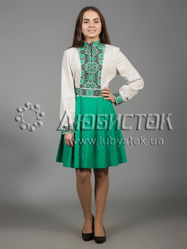 Вишита сукня хрестиком ЖПВ 31-1