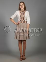 Вишита сукня хрестиком ЖПВ 33-1