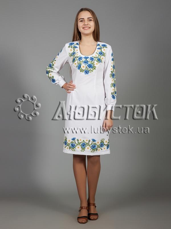 Вишита сукня хрестиком ЖПВ 36-1