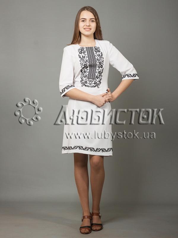 Вишита сукня хрестиком ЖПВ 38-1
