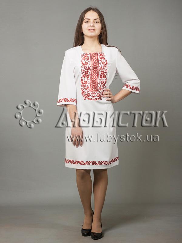 Вишита сукня хрестиком ЖПВ 38-2