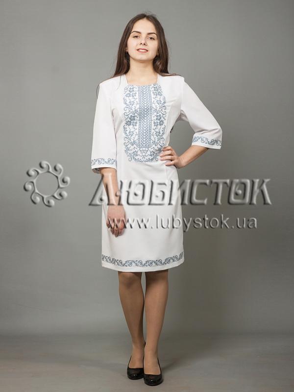 Вишита сукня хрестиком ЖПВ 38-3