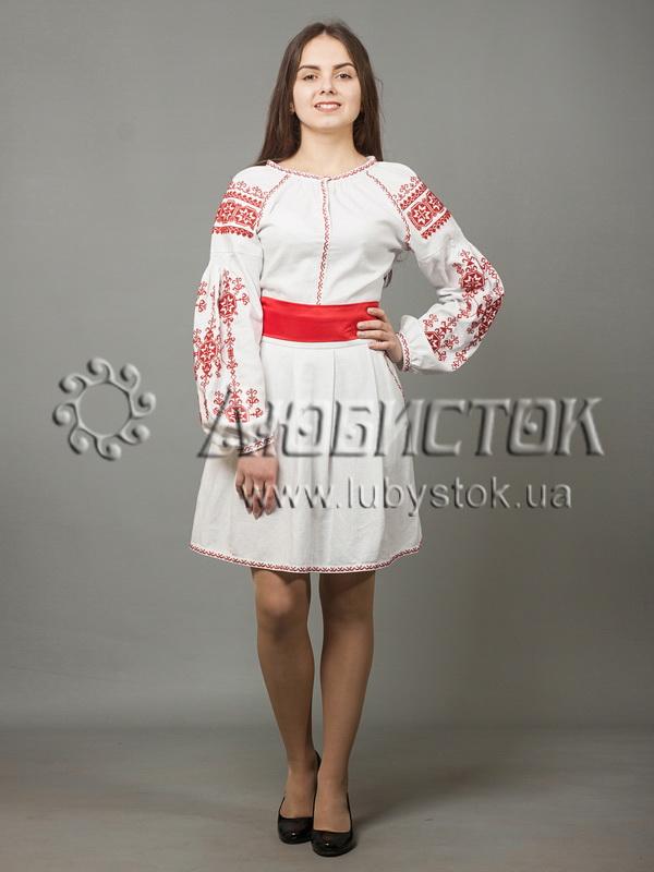 Вишита сукня хрестиком ЖПВ 39-1
