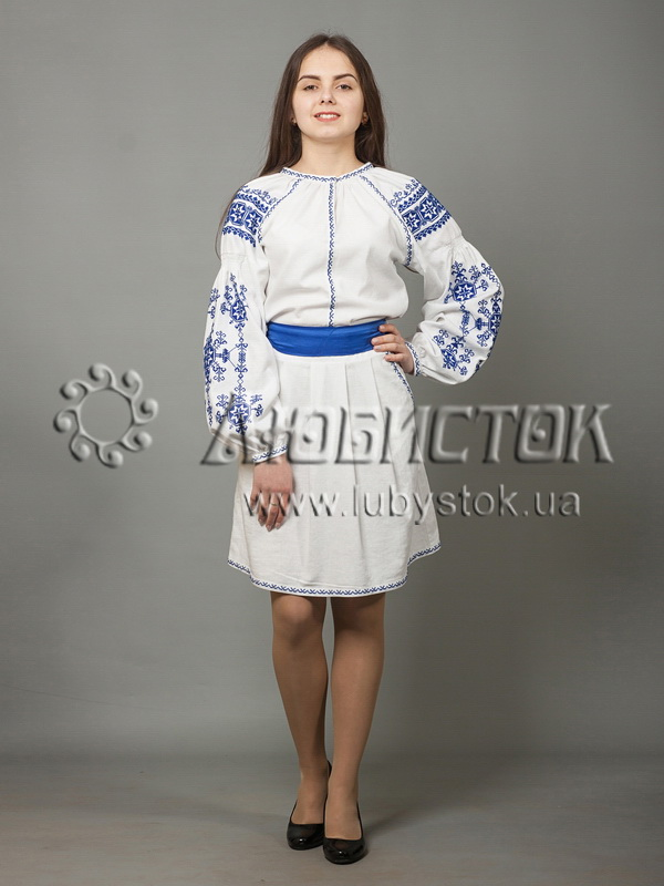 Вишита сукня хрестиком ЖПВ 39-2