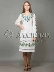 Вишита сукня хрестиком ЖПВ 40-1