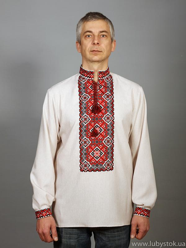 Вишита сорочка хрестиком ЧСВ 11-1