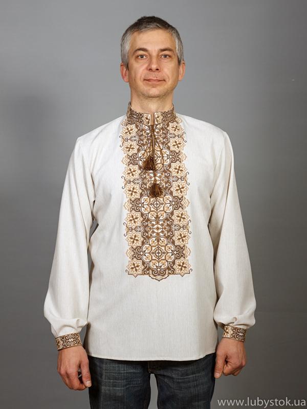 Вишита сорочка хрестиком ЧСВ 47-3L