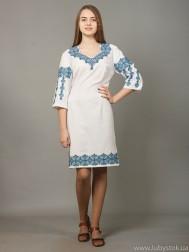 Вишита сукня хрестиком ЖПВ 5-2