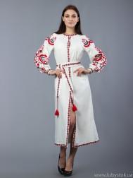 Вишита сукня хрестиком ЖПВ 10-3