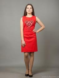 Вишита сукня хрестиком ЖПВ 17-9