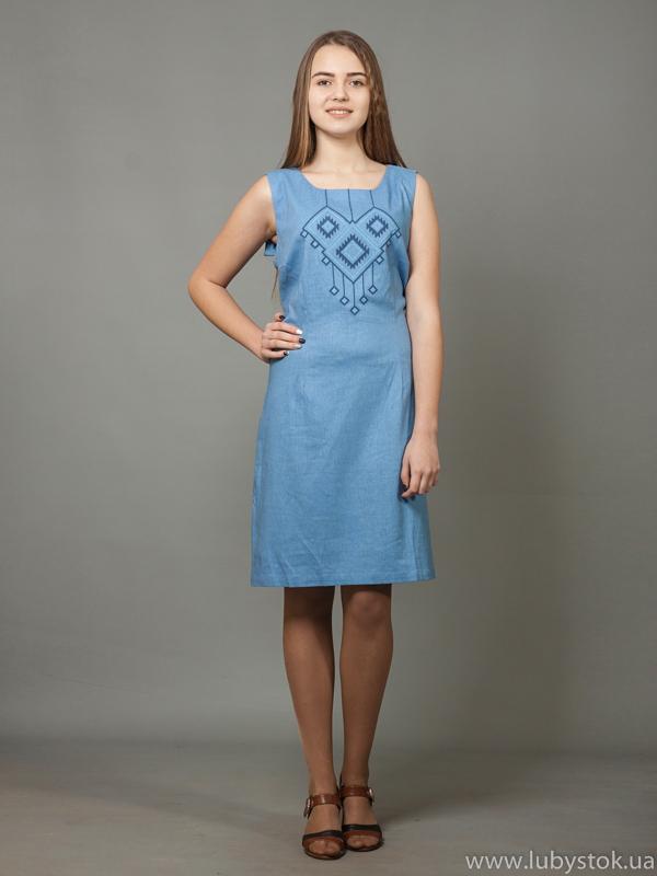 Вишита сукня хрестиком ЖПВ 17-10