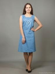 Вишита сукня хрестиком ЖПВ 17-11