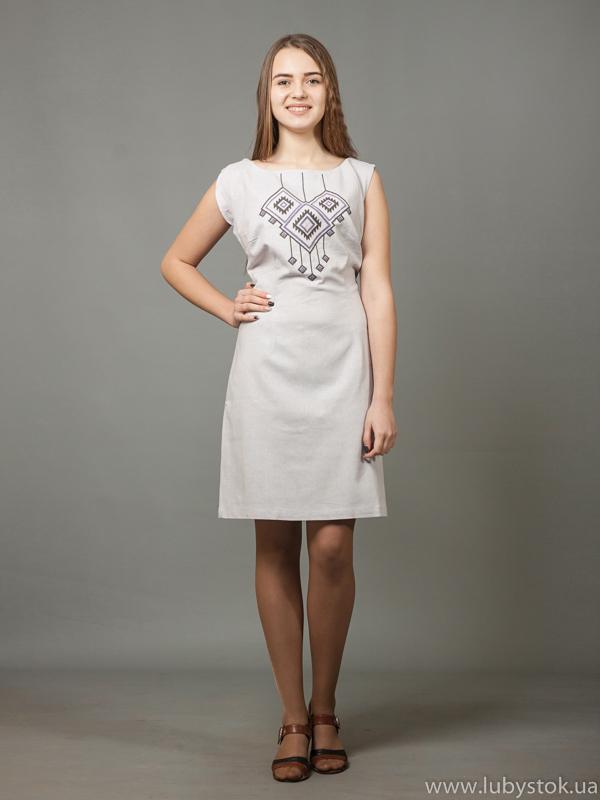 Вишита сукня хрестиком ЖПВ 17-12