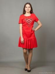 Вишита сукня хрестиком ЖПВ 21-4