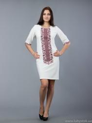 Вишита сукня хрестиком ЖПВ 48-3