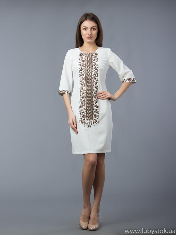 Вишита сукня хрестиком ЖПВ 48-4