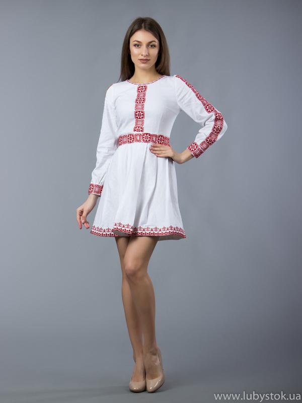 Вишита сукня хрестиком ЖПВ 51-1